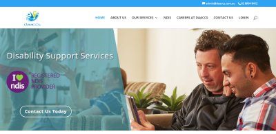 Website for NDIS provider Canberra